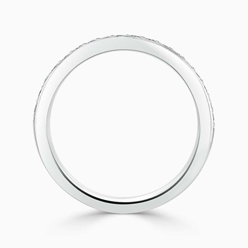 Platinum 2.50mm Round Brilliant Pavé Set Half Eternity Ring