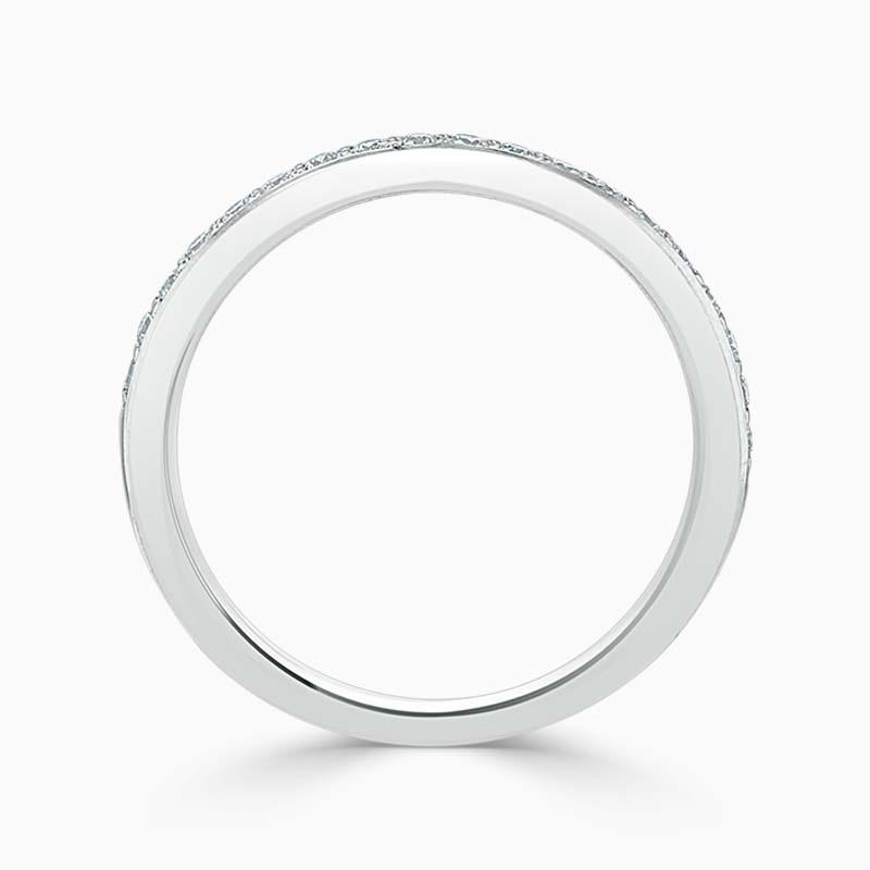 18ct White Gold 2.25mm Round Brilliant Pavé Set Half Eternity Ring