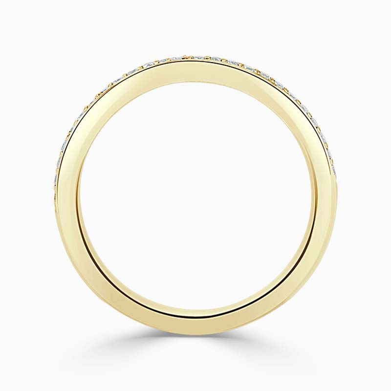 18ct Yellow Gold 2.00mm Round Brilliant Pavé Set Half Eternity Ring
