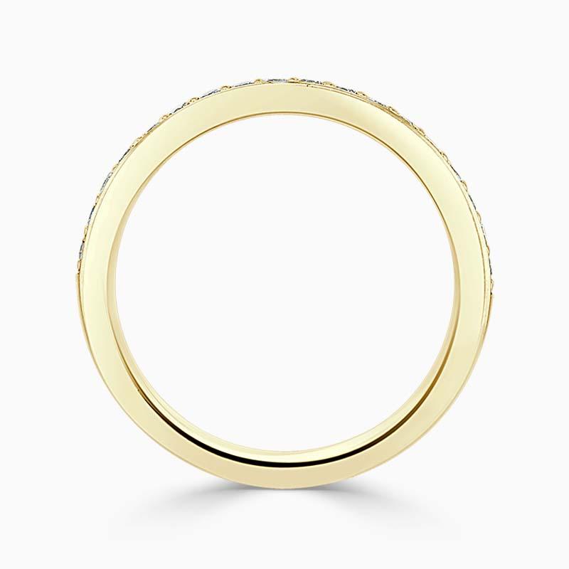 18ct Yellow Gold 2.50mm Round Brilliant Pavé Set Half Eternity Ring