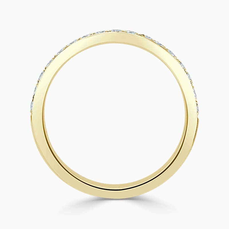 18ct Yellow Gold 2.75mm Round Brilliant Pavé Set Half Eternity Ring