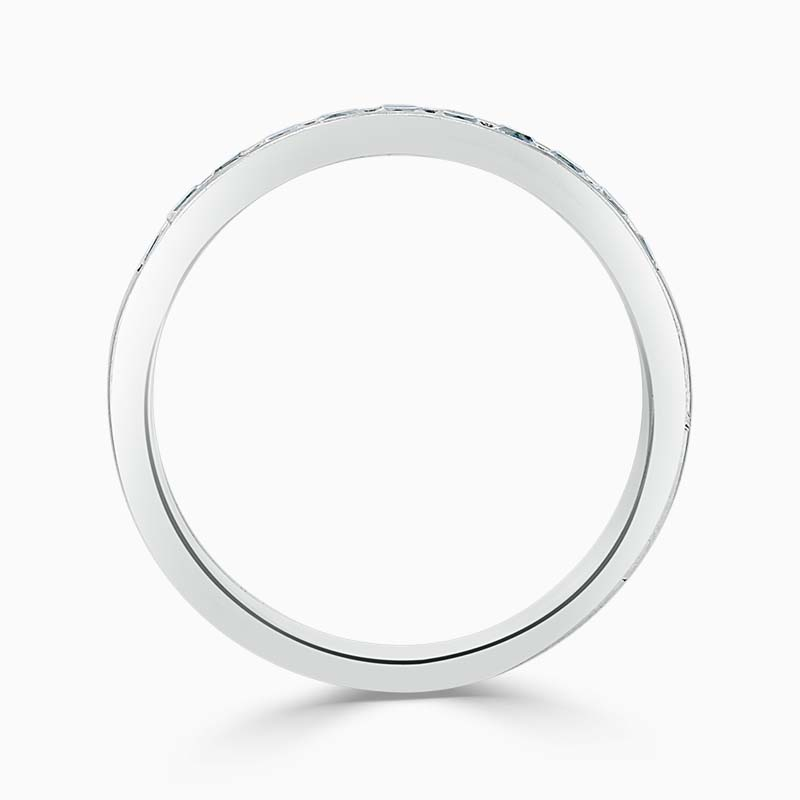 18ct White Gold 3.50mm Princess Cut Channel Set Half Eternity Ring