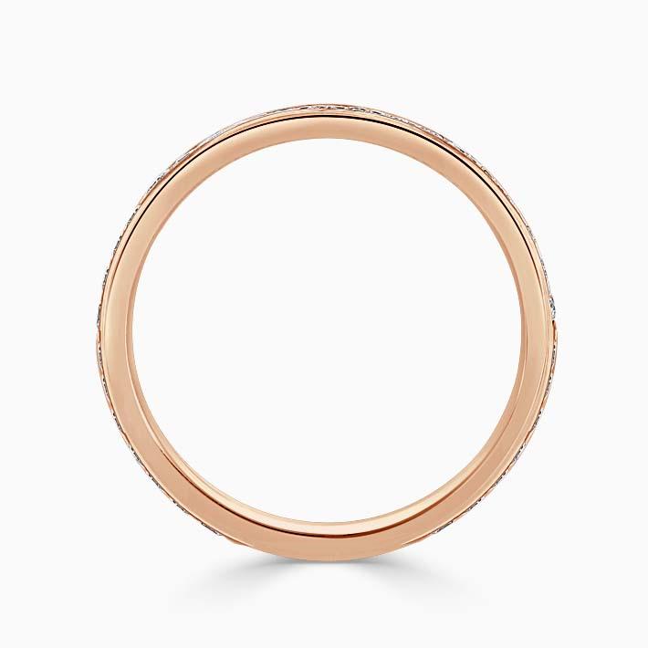 18ct Rose Gold 2.25mm Round Brilliant Channel Set Three Quarter Eternity Ring