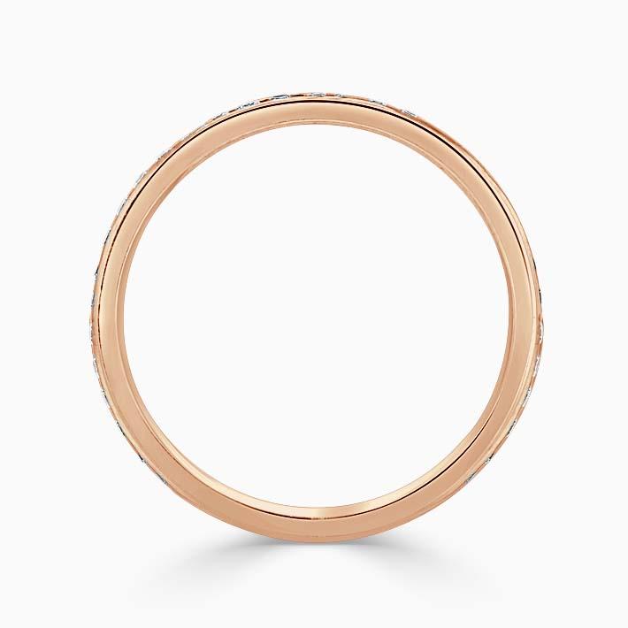 18ct Rose Gold 2.00mm Round Brilliant Channel Set Three Quarter Eternity Ring