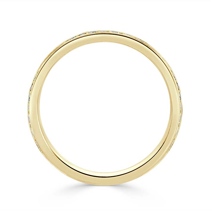 18ct Yellow Gold 2.50mm Round Brilliant Channel Set Three Quarter Eternity Ring