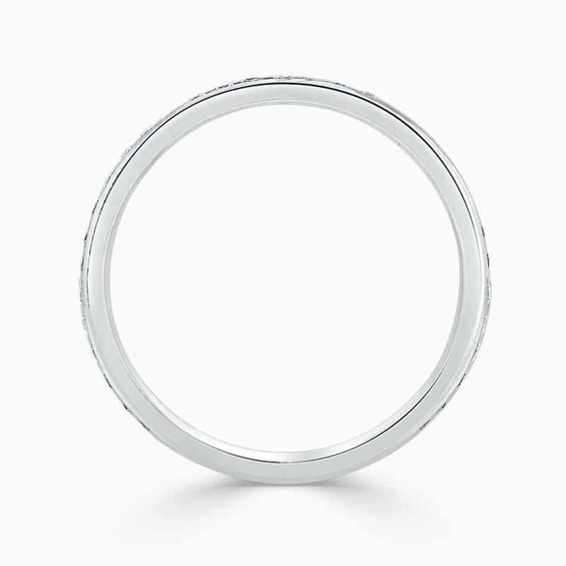 18ct White Gold 2.00mm Round Brilliant Channel Set Three Quarter Eternity Ring