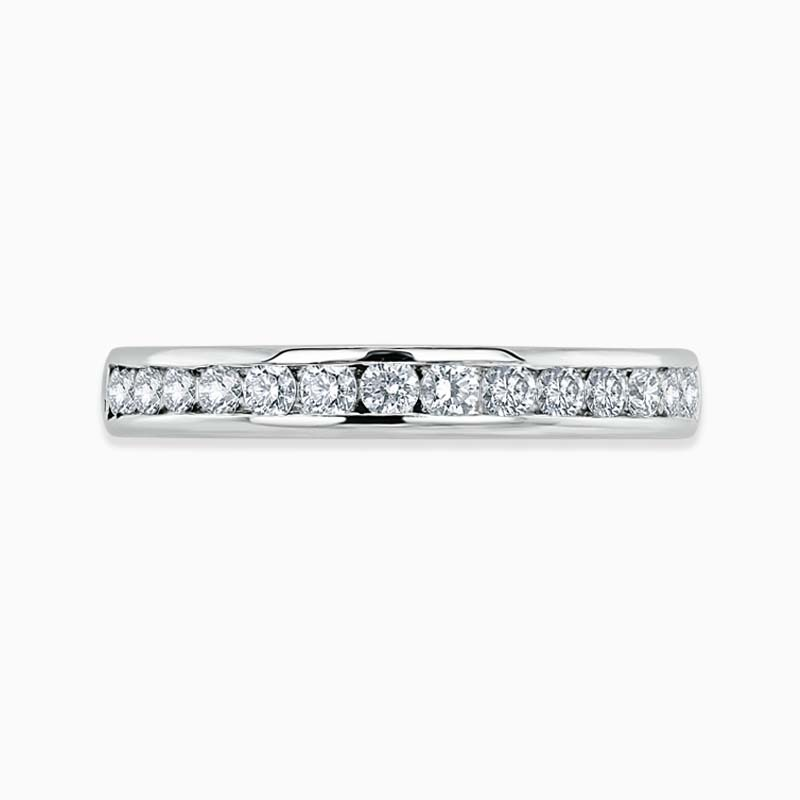 18ct White Gold 3.00mm Round Brilliant Channel Set Three Quarter Eternity Ring