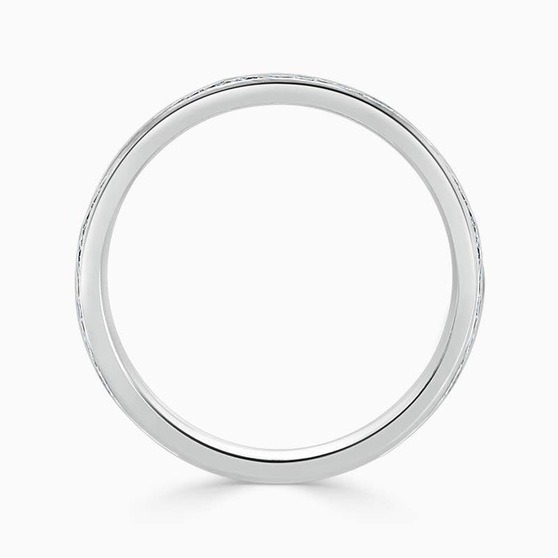Platinum 2.50mm Round Brilliant Channel Set Three Quarter Eternity Ring