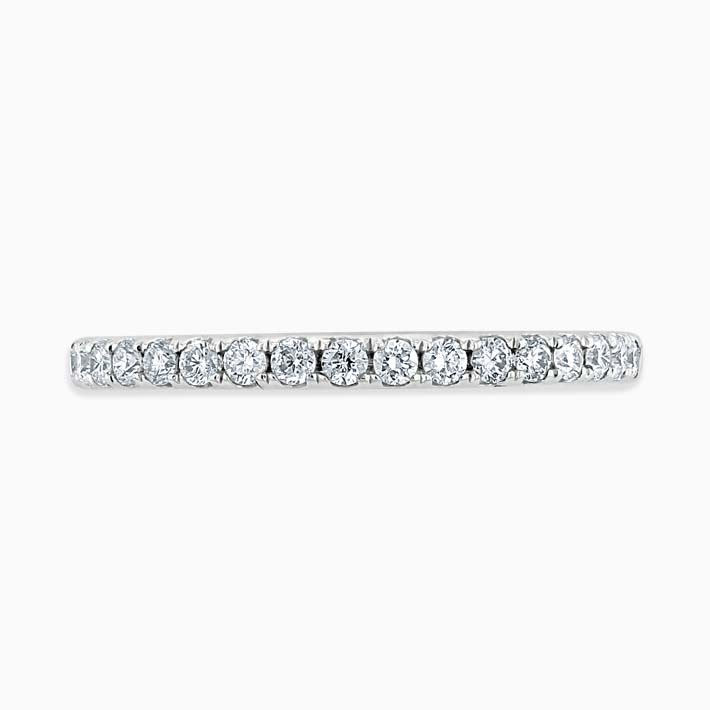 Platinum 1.80mm Round Brilliant Cutdown Set Three Quarter Eternity Ring