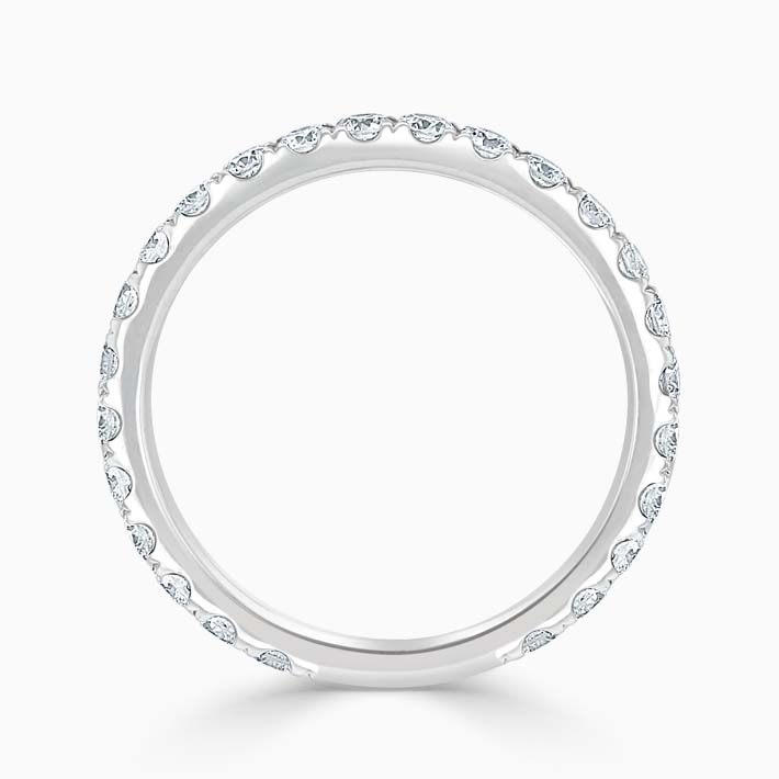 Platinum 2.25mm Round Brilliant Cutdown Set Three Quarter Eternity Ring