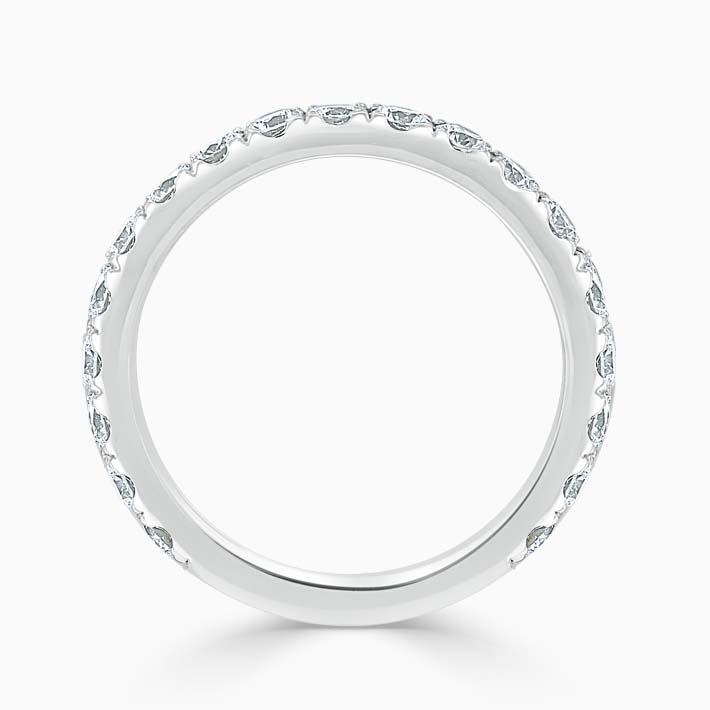 Platinum 2.50mm Round Brilliant Cutdown Set Three Quarter Eternity Ring