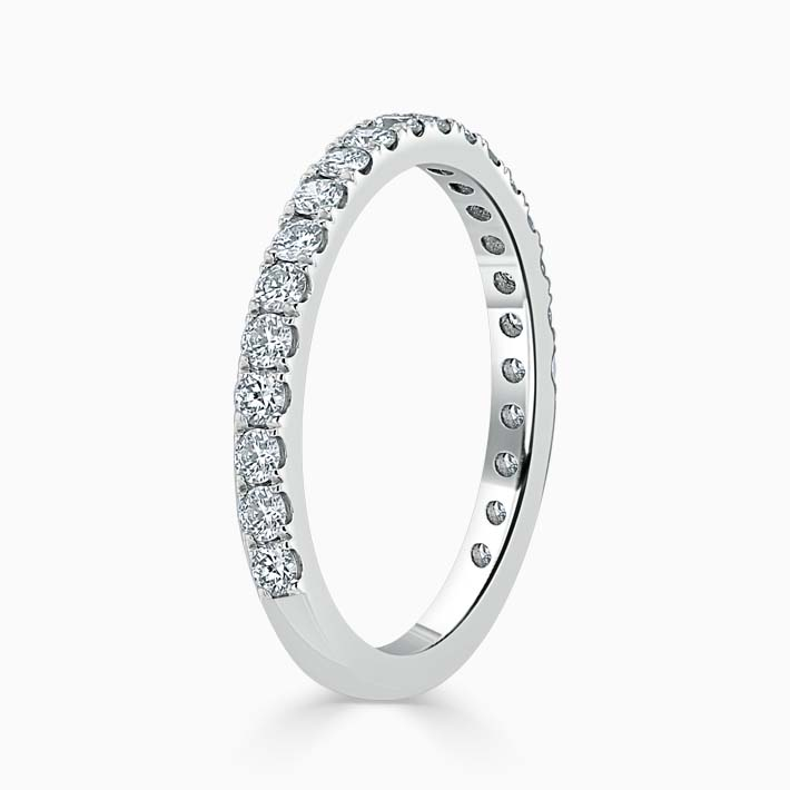 18ct White Gold 2.00mm Round Brilliant Cutdown Set Three Quarter Eternity Ring