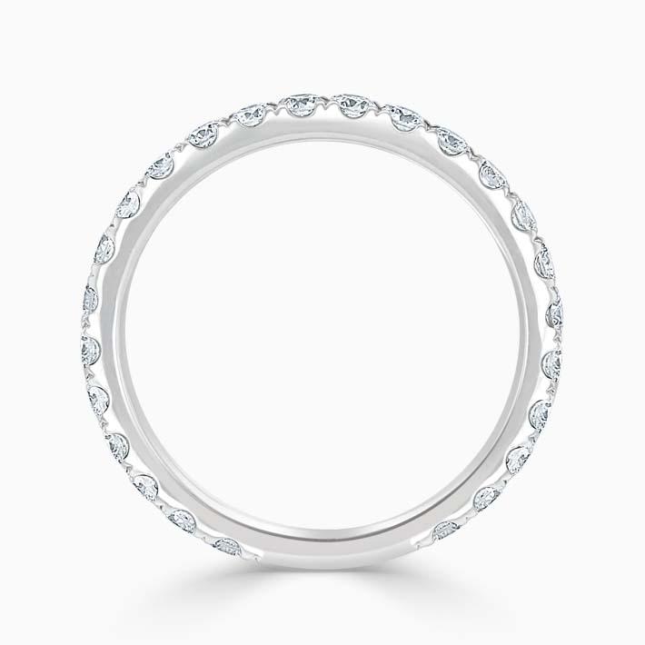 18ct White Gold 2.25mm Round Brilliant Cutdown Set Three Quarter Eternity Ring
