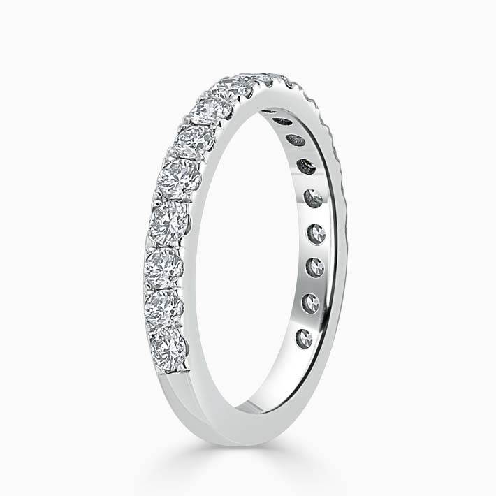 18ct White Gold 2.50mm Round Brilliant Cutdown Set Three Quarter Eternity Ring