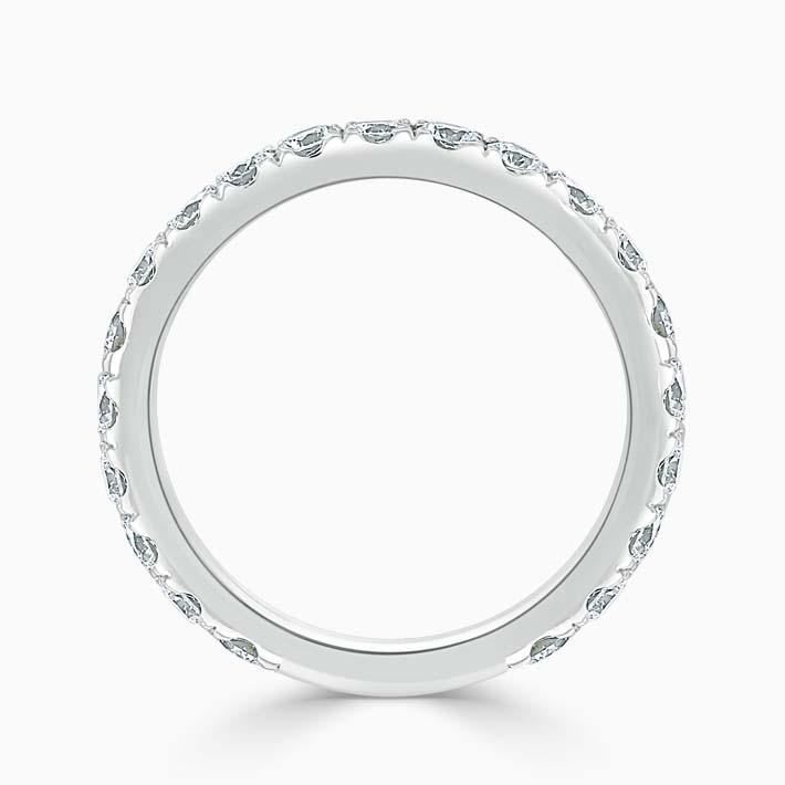 18ct White Gold 2.75mm Round Brilliant Cutdown Set Three Quarter Eternity Ring