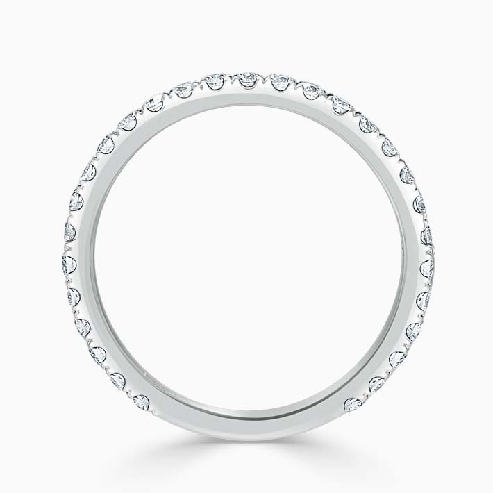 18ct White Gold 1.80mm Round Brilliant Cutdown Set Three Quarter Eternity Ring