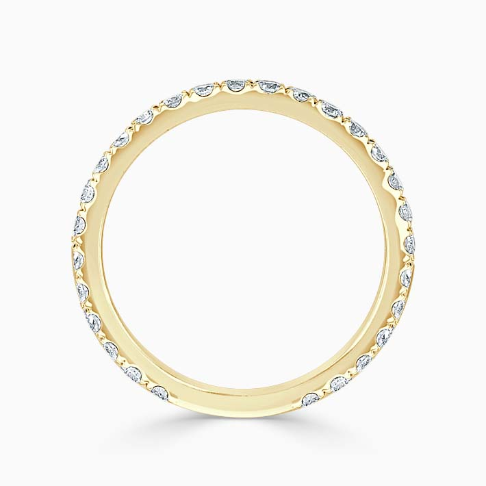 18ct Yellow Gold 2.00mm Round Brilliant Cutdown Set Three Quarter Eternity Ring