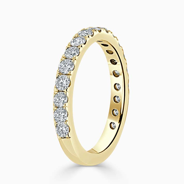 18ct Yellow Gold 2.50mm Round Brilliant Cutdown Set Three Quarter Eternity Ring