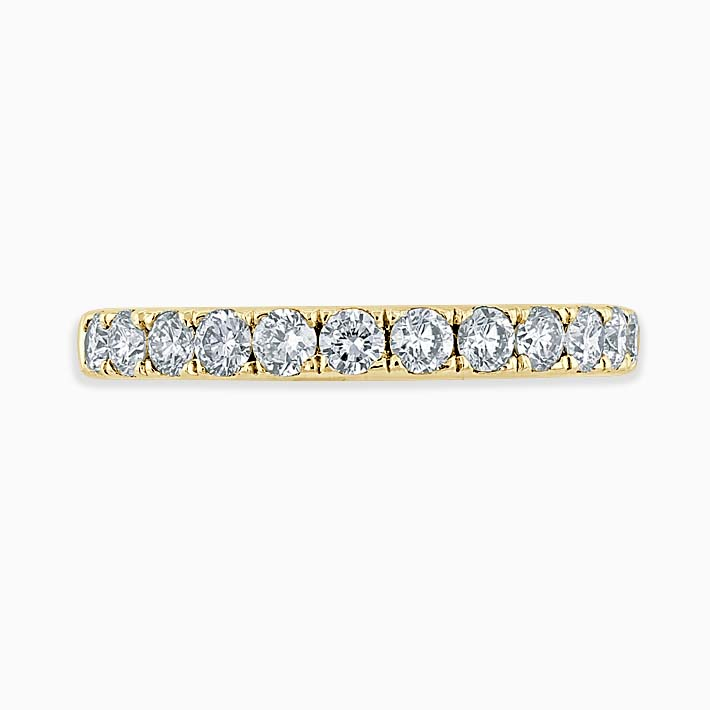 18ct Yellow Gold 2.75mm Round Brilliant Cutdown Set Three Quarter Eternity Ring