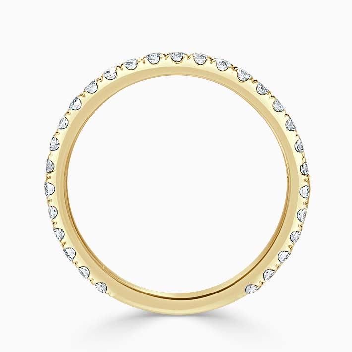 18ct Yellow Gold 1.80mm Round Brilliant Cutdown Set Three Quarter Eternity Ring