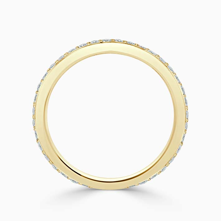 18ct Yellow Gold 2.25mm Round Brilliant Pavé Set Three Quarter Eternity Ring