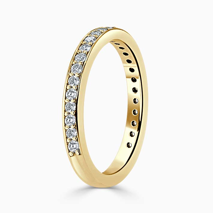 18ct Yellow Gold 2.50mm Round Brilliant Pavé Set Three Quarter Eternity Ring