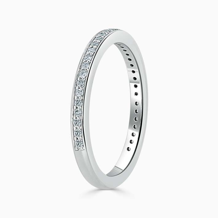 18ct White Gold 2.00mm Round Brilliant Pavé Set Three Quarter Eternity Ring