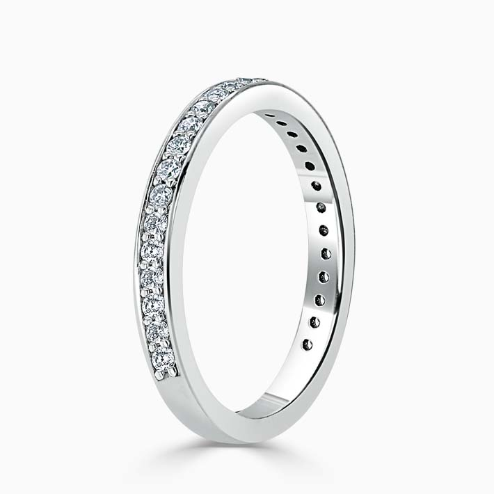 18ct White Gold 2.25mm Round Brilliant Pavé Set Three Quarter Eternity Ring