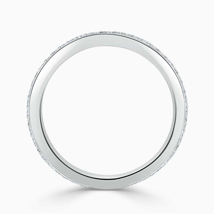 Platinum 2.00mm Round Brilliant Pavé Set Three Quarter Eternity Ring