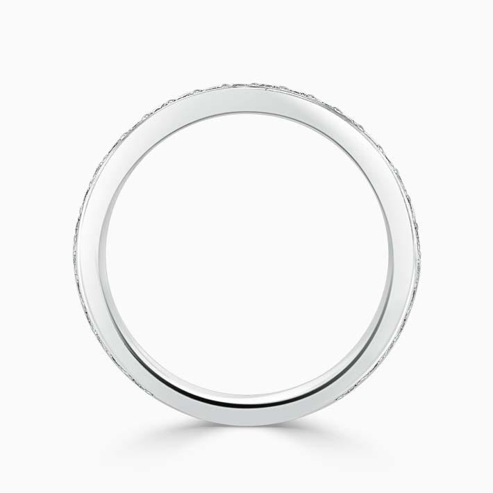 Platinum 2.50mm Round Brilliant Pavé Set Three Quarter Eternity Ring