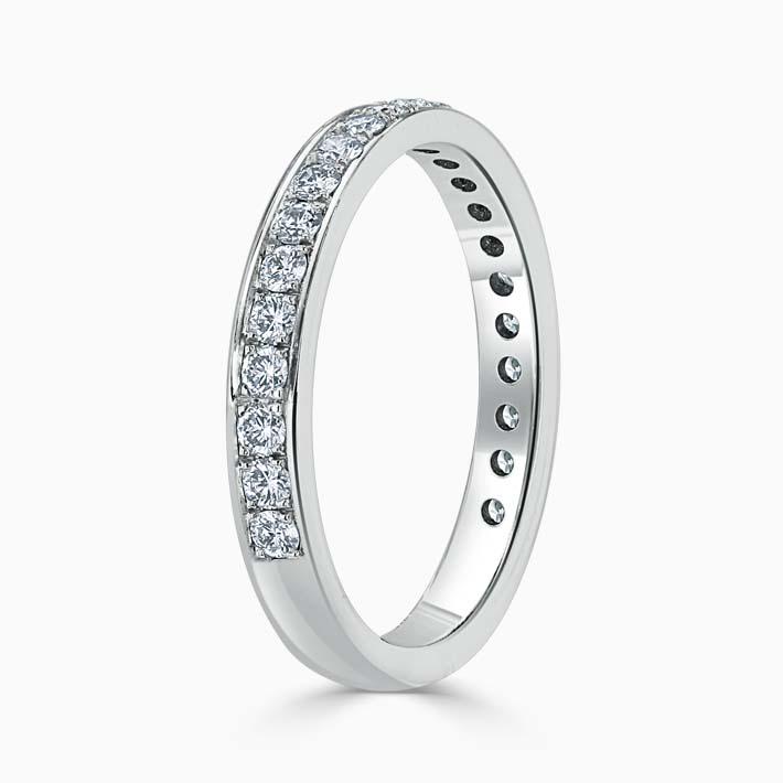 Platinum 2.75mm Round Brilliant Pavé Set Three Quarter Eternity Ring