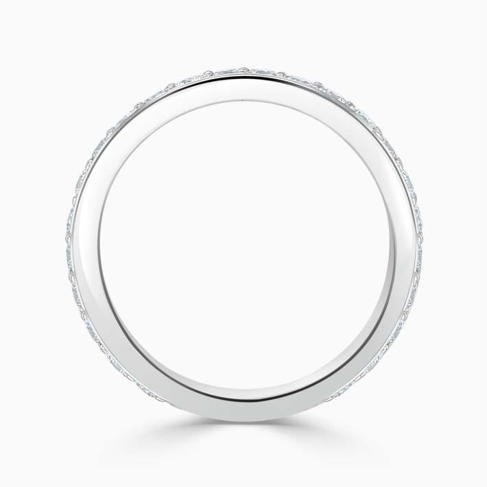 Platinum 3.00mm Round Brilliant Pavé Set Three Quarter Eternity Ring