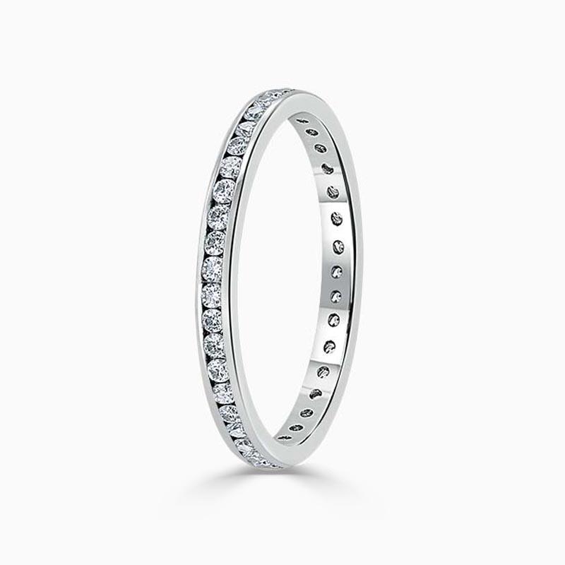 Platinum 2.00mm Round Brilliant Channel Set Full Eternity Ring