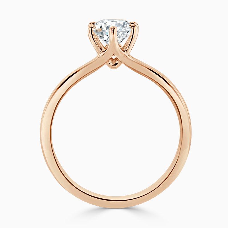 18ct Rose Gold Round Brilliant Brilliant 6 Claw Engagement Ring