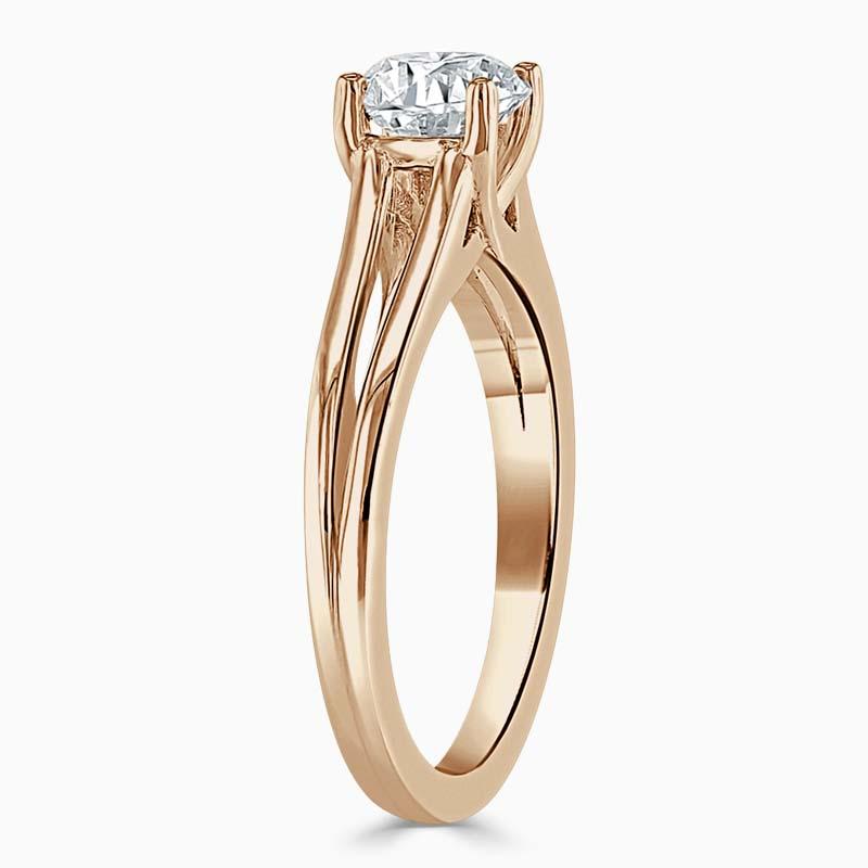 18ct Rose Gold Asscher Cut Split Shoulder Engagement Ring
