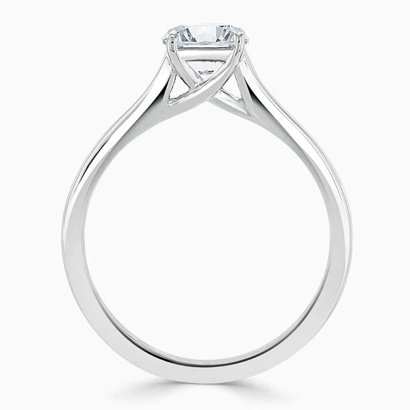Platinum Cushion Cut Openset Engagement Ring