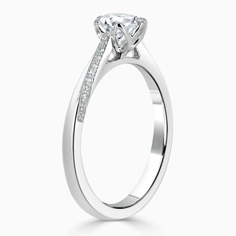 18ct White Gold Cushion Cut Vortex Engagement Ring