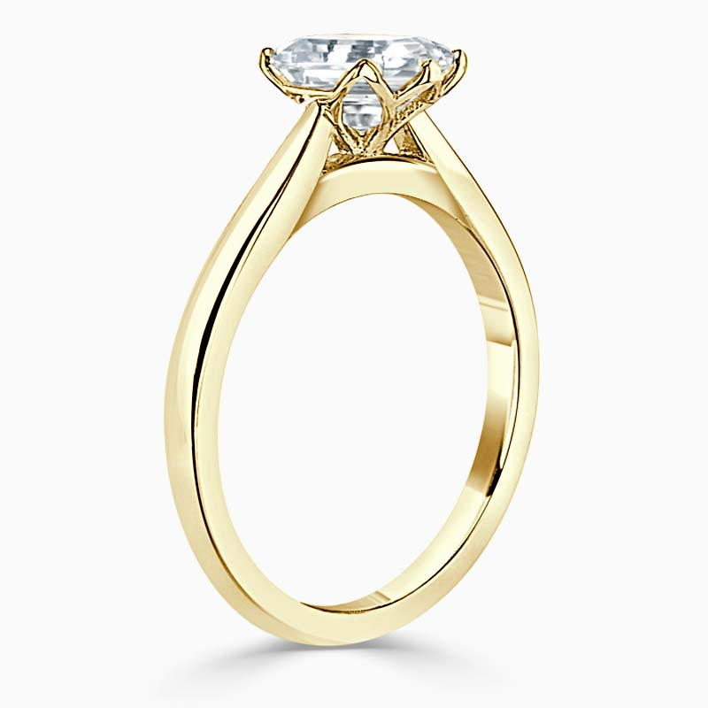 18ct Yellow Gold Heart Shape Lotus Engagement Ring