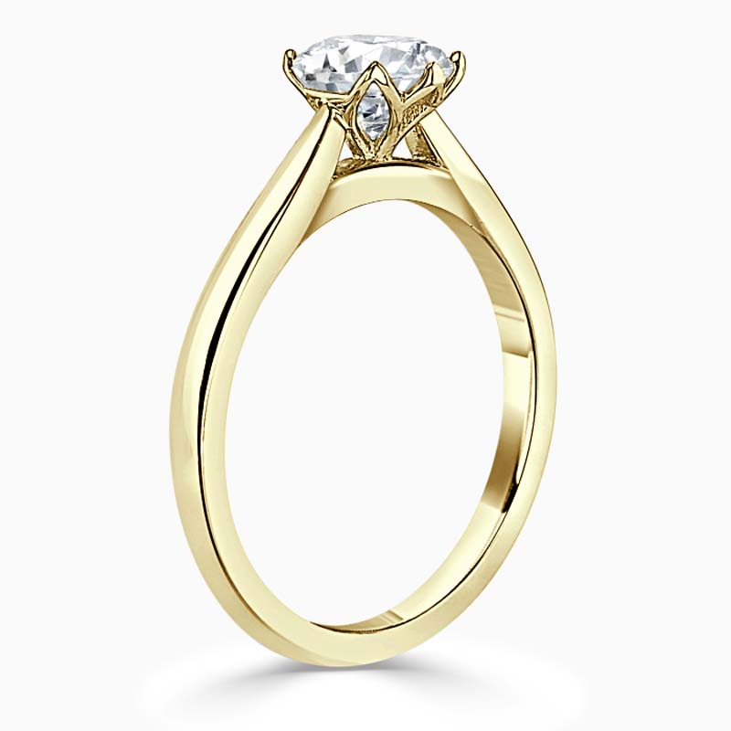 18ct Yellow Gold Oval Shape Lotus Engagement Ring