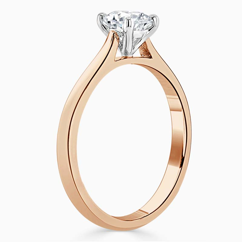 18ct Rose Gold Radiant Cut Classic Wedfit Engagement Ring