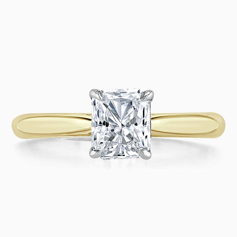 18ct Yellow Gold Radiant Cut Classic Wedfit Engagement Ring