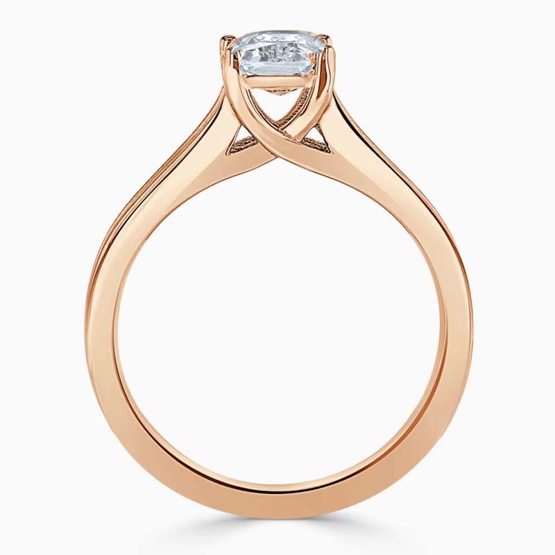 18ct Rose Gold Radiant Cut Split Shoulder Engagement Ring