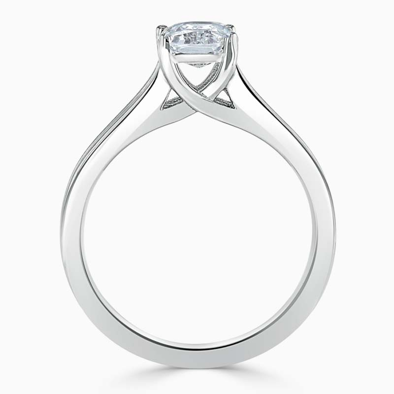 Platinum Radiant Cut Split Shoulder Engagement Ring