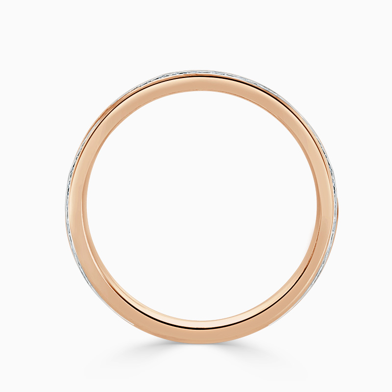 18ct Rose Gold 2.75mm Round Brilliant Channel Set Three Quarter Eternity Ring