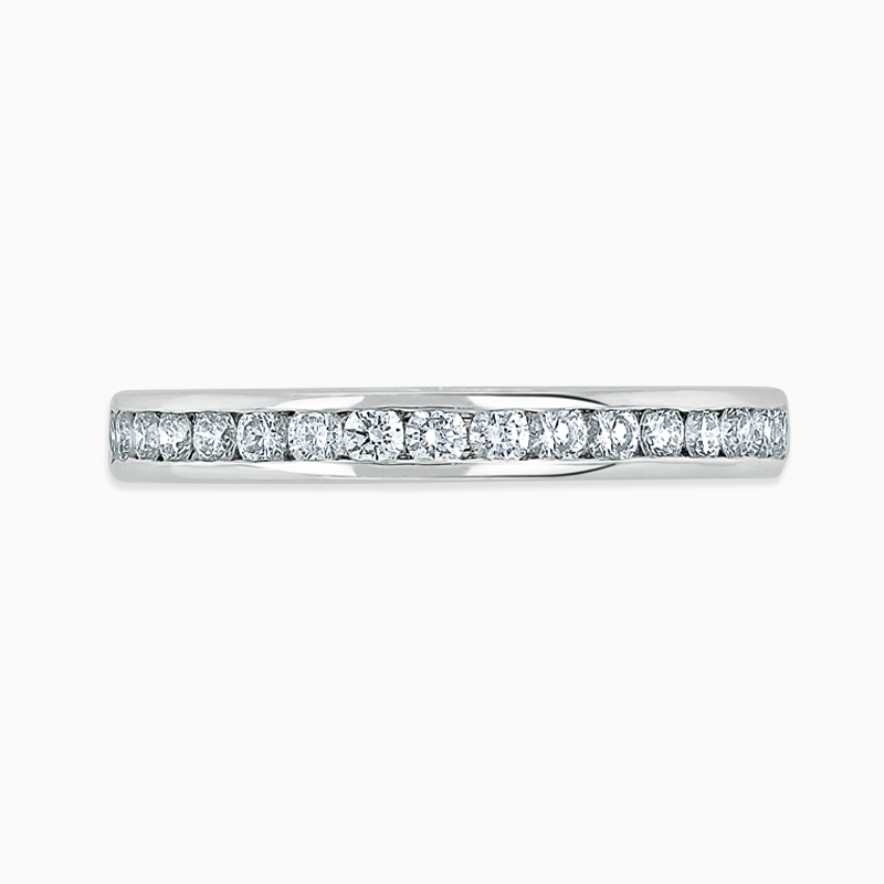 18ct White Gold 2.75mm Round Brilliant Channel Set Three Quarter Eternity Ring