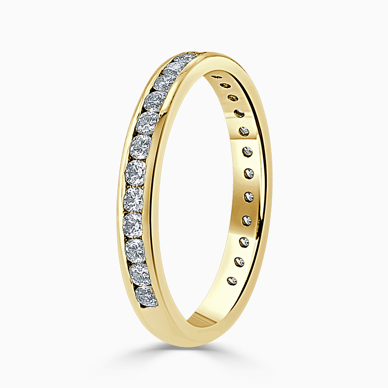 18ct Yellow Gold 2.75mm Round Brilliant Channel Set Three Quarter Eternity Ring