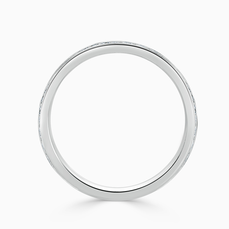 Platinum 2.75mm Round Brilliant Channel Set Three Quarter Eternity Ring