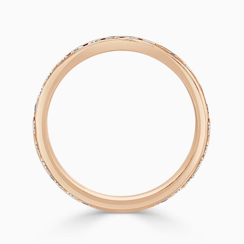 18ct Rose Gold 3.25mm Round Brilliant Channel Set Three Quarter Eternity Ring