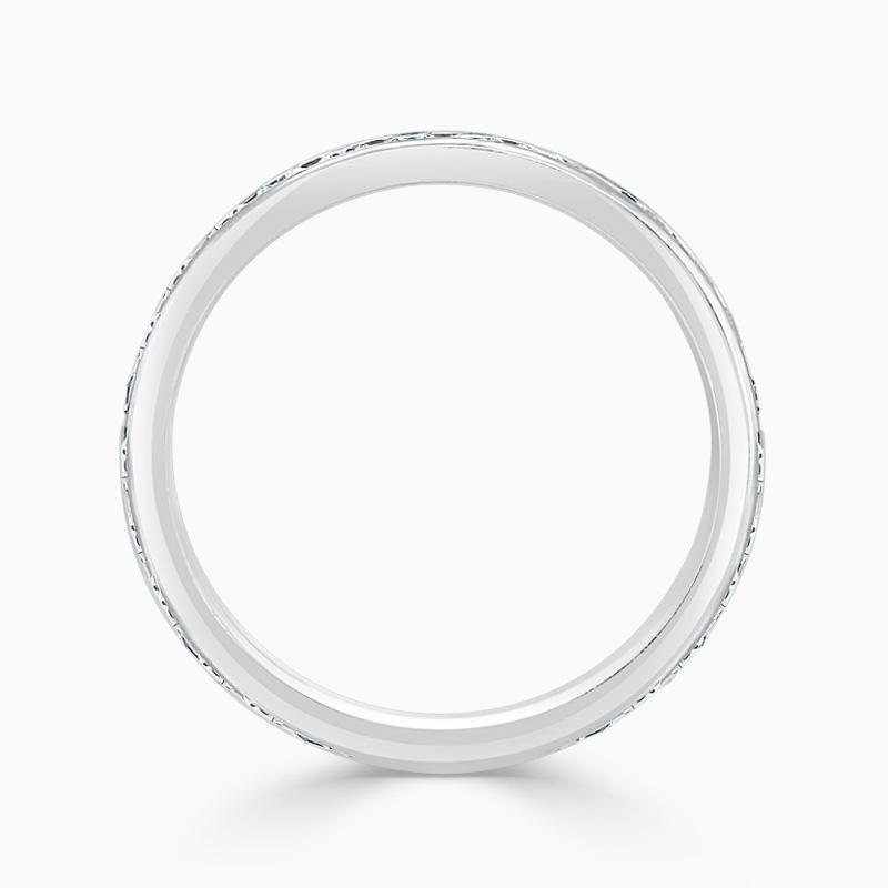 18ct White Gold 3.25mm Round Brilliant Channel Set Three Quarter Eternity Ring