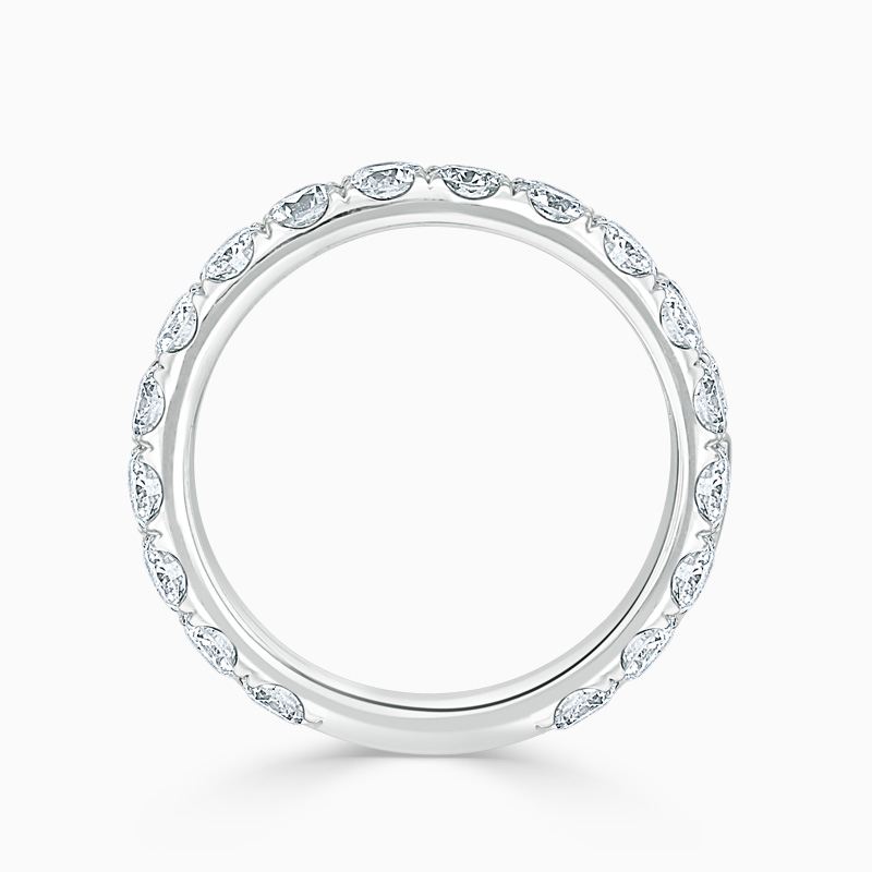 18ct White Gold 3.25mm Round Brilliant Cutdown Set Three Quarter Eternity Ring